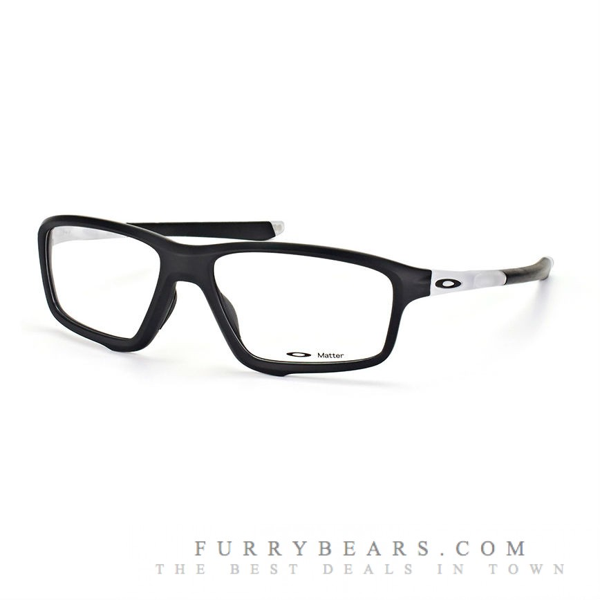 090cd5c4f4 Oakley OX8080 CROSSLINK ZERO Asian Fit 808003 Black Transparent Matte Prescription  Glasses .